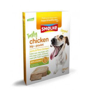 Smolke Smølke Tasty Chicken pâtée pour chien au poulet fraîchement cuit à la vapeur 2 trays ( 20 x 395 gram)