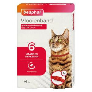 Beaphar Collier anti-puces (à partir de 6 mois) chat Rouge