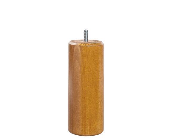 Maliterie.com Jeu de 4 pieds ronds, Finitions: Massif miel, Hauteurs Pieds: 15 cm