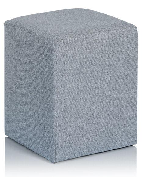 Maliterie.com Pouf de chevet AUBE, Revetement fauteuil: Tissu Velours, Coloris fauteuil: Tissu Velours natté - Chocolat, Tablette: Avec tablette