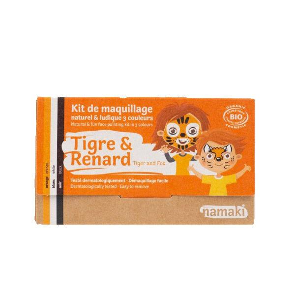 Namaki Kit de Maquillage Bio Enfant Tigre et Renard 3 couleurs