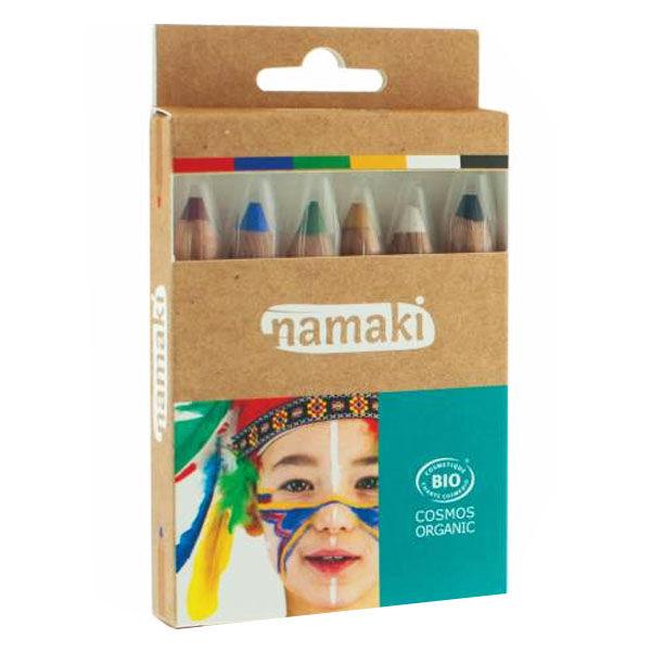 Namaki Kit 6 Crayons de Maquillage Arc-en-Ciel Bio