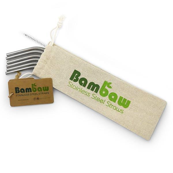 Bambaw Maison & Cuisine Pailles en Inox 6 unités