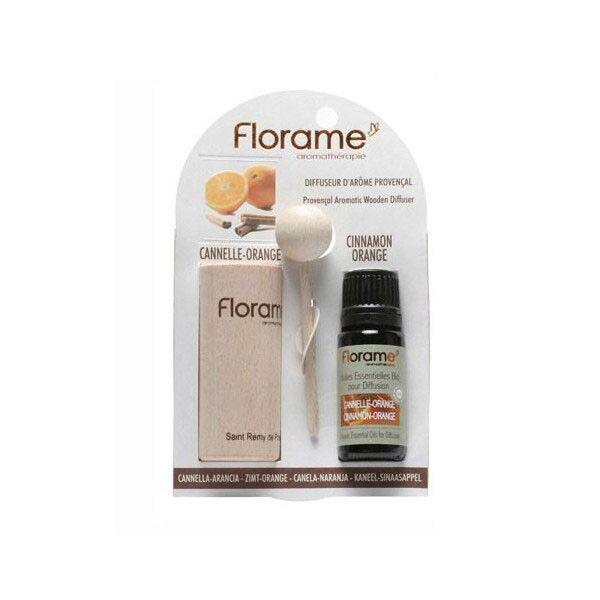 Florame Aromathérapie Diffuseur d'Arôme + Huile Essentielle Cannelle-Orange Bio 10ml