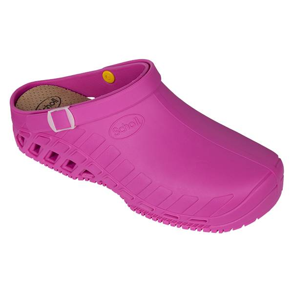 Scholl Chaussures Professionnelles Sabot Clog Evo Fuchsia Taille 37