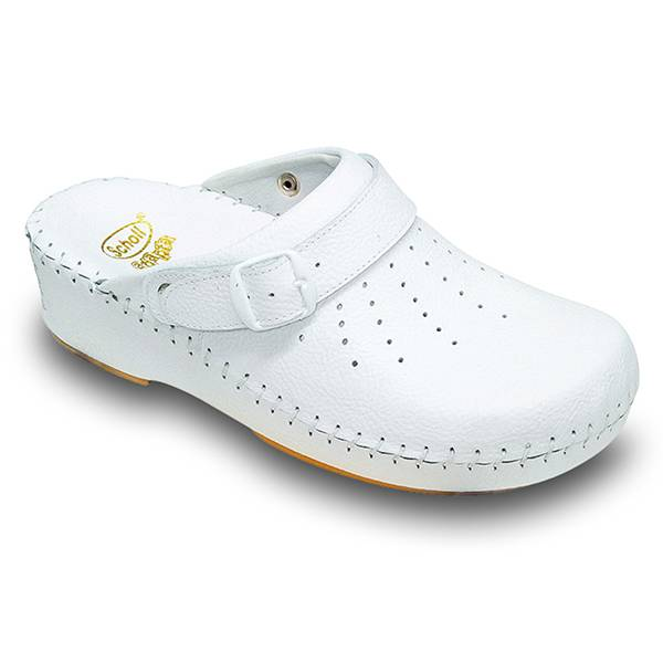 Scholl Chaussures Professionnelles Sabot Confort Clog B/S Adapta Blanc Taille 42