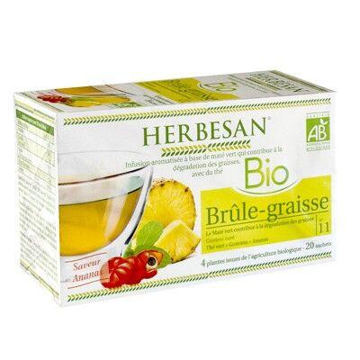 Herbesan Bio Infusion Brûle-graisse Saveur Ananas n° 11 - 20 sachets