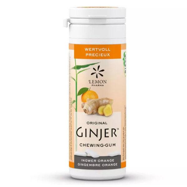 Lemon Pharma Ginjer Chewing-Gum Gingembre Goût Orange 30g