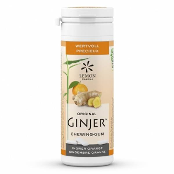 Lemon Pharma Ginjer Chewing Gum Gingembre Goût Orange 30g