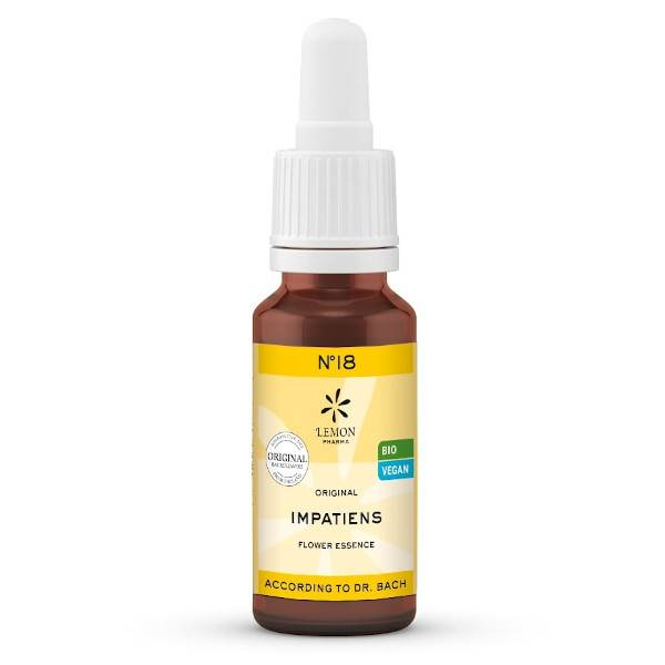 Lemon Pharma Fleurs de Bach N°18 Impatiens Bio 20ml