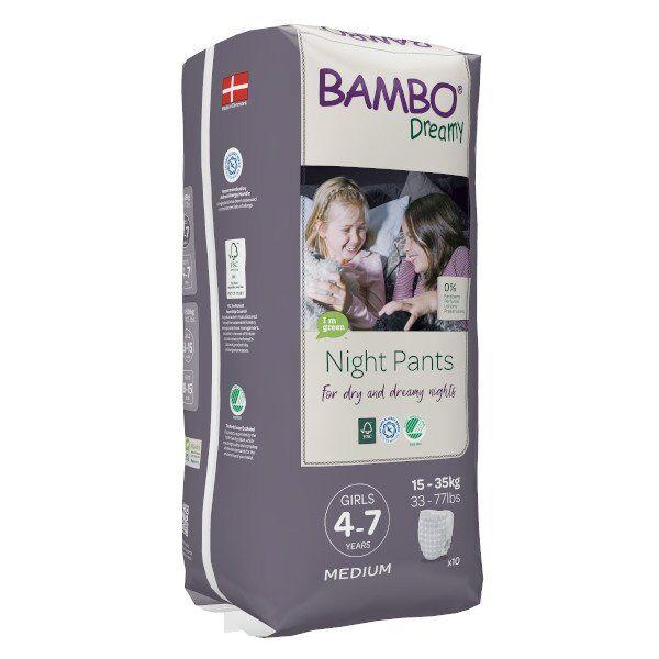 Bambo Nature Dreamy Couche de Nuit 15-35 kg Girl 10 unités