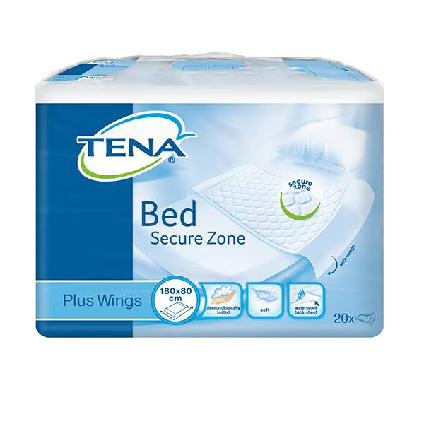 TENA Bed Plus Wings 80x180cm Alèse Bordable 20 protections