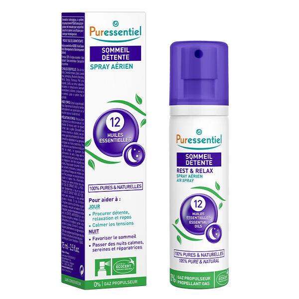 Puressentiel Sommeil & Détente Spray Aérien aux 12 Huiles Essentielles 75ml