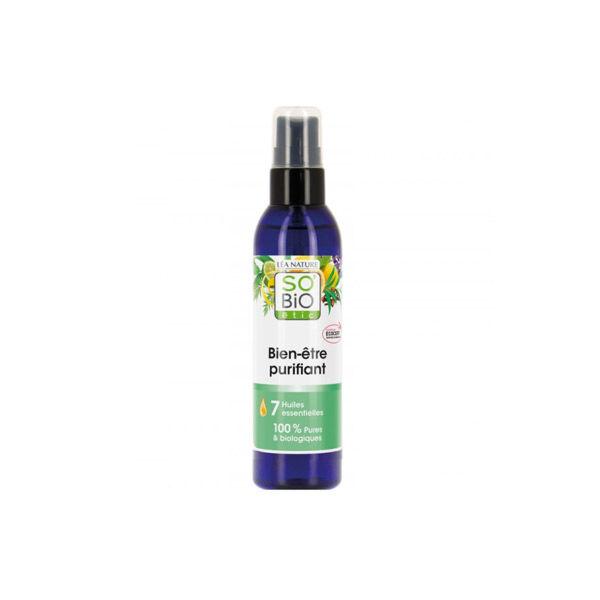So'Bio Étic Arôma Spray Bien-Etre Purifiant aux 7 Huiles Essentielles Bio 100ml