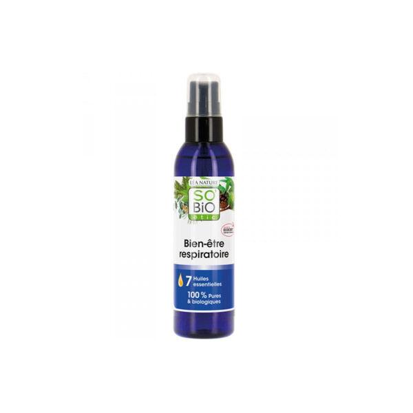 So'Bio Étic Arôma Spray Bien-Etre Respiratoire aux 7 Huiles Essentielles Bio 100ml