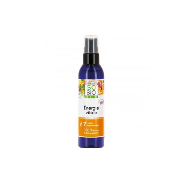 So'Bio Étic Arôma Spray Energie Vitale aux 7 Huiles Essentielles Bio 100ml