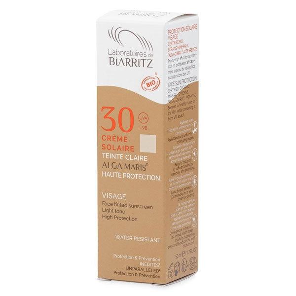 Laboratoires de Biarritz Algamaris Crème Solaire Visage Bio Teinte Claire SPF30 50ml
