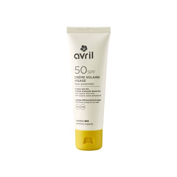 Avril Crème Solaire Visage SPF50 Bio 50ml
