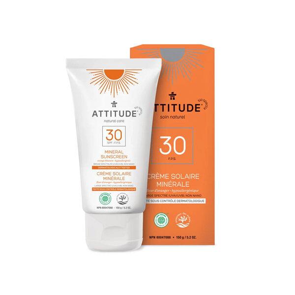 Attitude Crème Solaire SPF30 Fleur d'Oranger