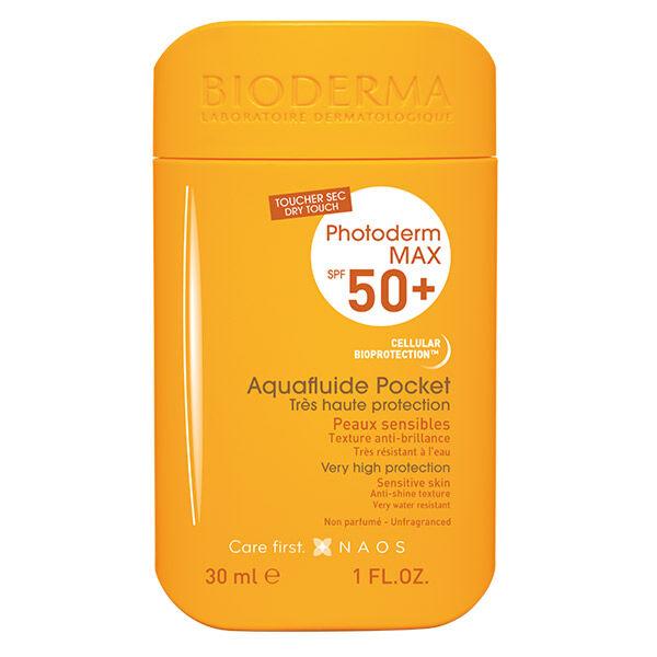 Bioderma Photoderm Max Aquafluide Crème Solaire Peaux Sensibles SPF50+ Pocket 40ml