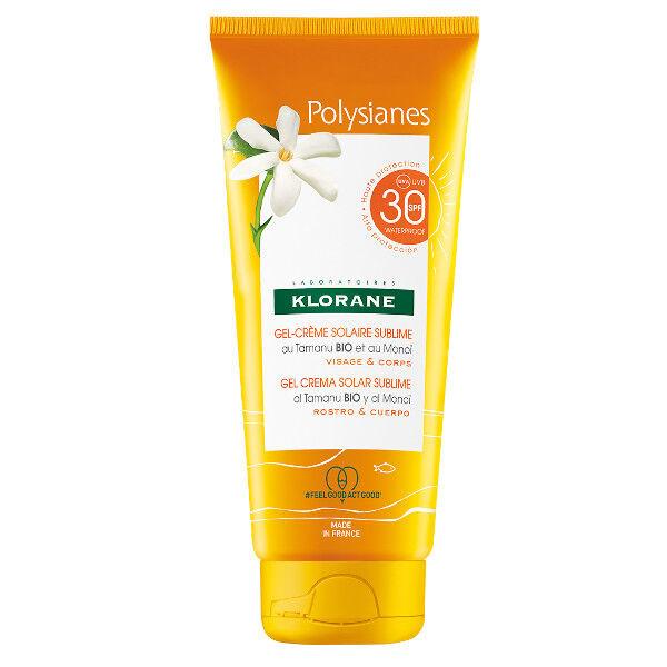 Klorane Monoï & Tamanu Gel Crème Solaire Sublime visage et Corps SPF30 200ml