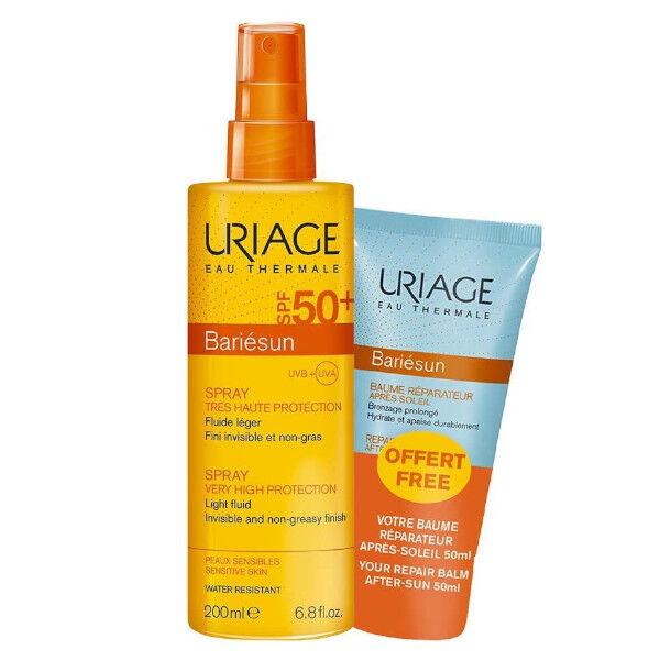 Uriage Bariésun Spray SPF50+ 200ml + Bariésun Baume Réparateur Aprés-Soleil 50ml Offert