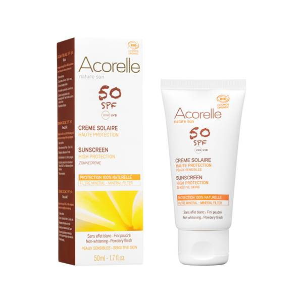 Acorelle Nature Sun Crème Solaire Visage SPF50 Bio 50ml