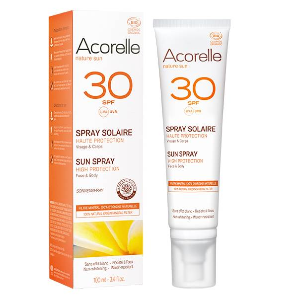 Acorelle Nature Sun Spray Solaire SPF30 Bio 100ml