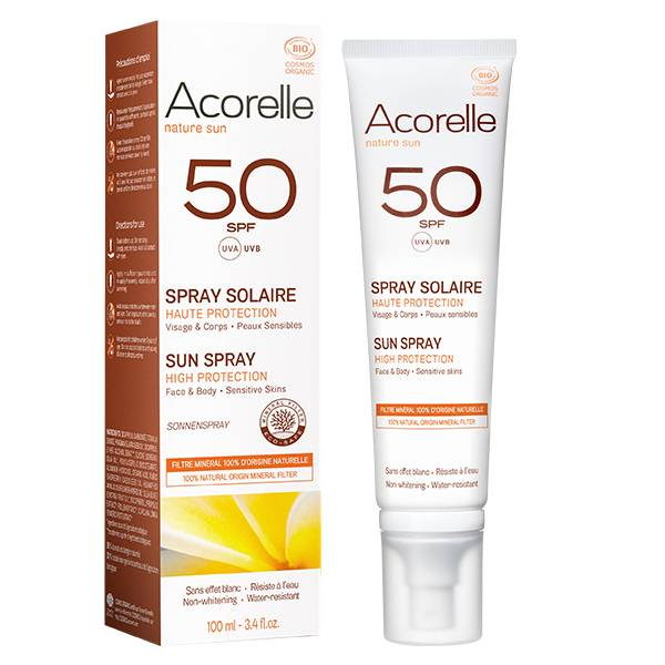 Acorelle Nature Sun Spray Solaire SPF50 Bio 100ml