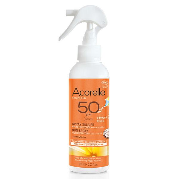 Acorelle Nature Sun Enfants Spray Solaire Bio SPF50 150ml