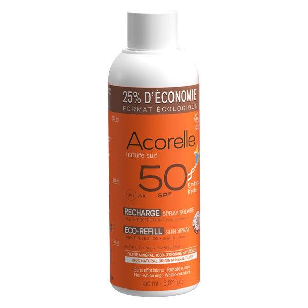 Acorelle Nature Sun Enfants Recharge Spray Solaire Bio SPF50 150ml