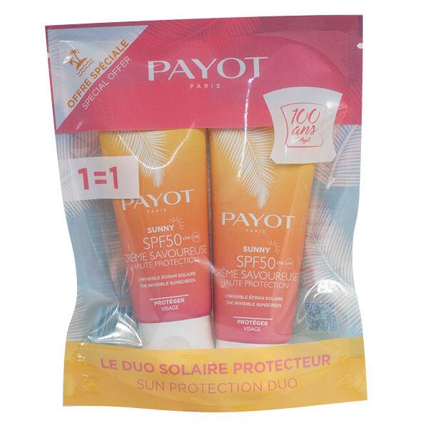 Payot Solaire Sunny Crème Savoureuse SPF50 Lot de 2 x 50ml dont 1 Offert