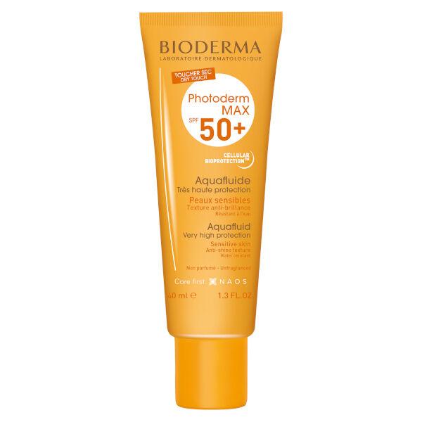 Bioderma Photoderm Max Aquafluide Crème Solaire Peaux Sensibles SPF50+ 40ml
