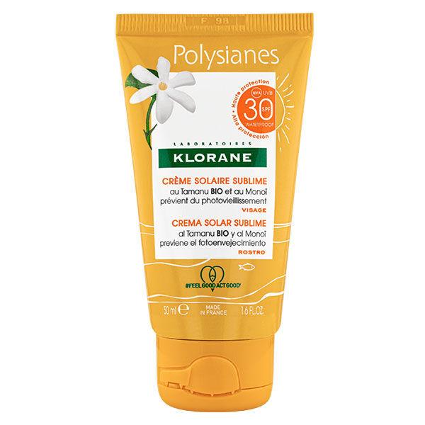 Klorane Monoï & Tamanu Crème Solaire Sublime Visage SPF30 50ml