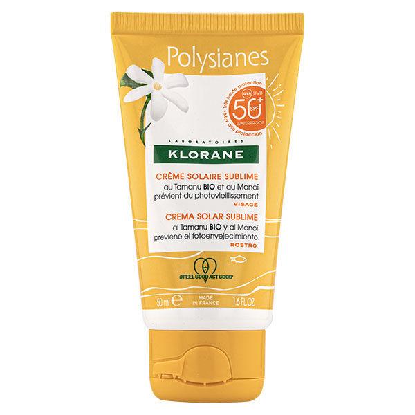 Klorane Monoï & Tamanu Crème Solaire Sublime Visage SPF50+ 50ml