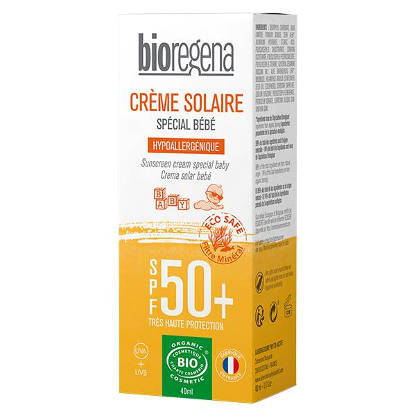 Bioregena Crème Solaire Bébé SPF50+ Bio 40ml