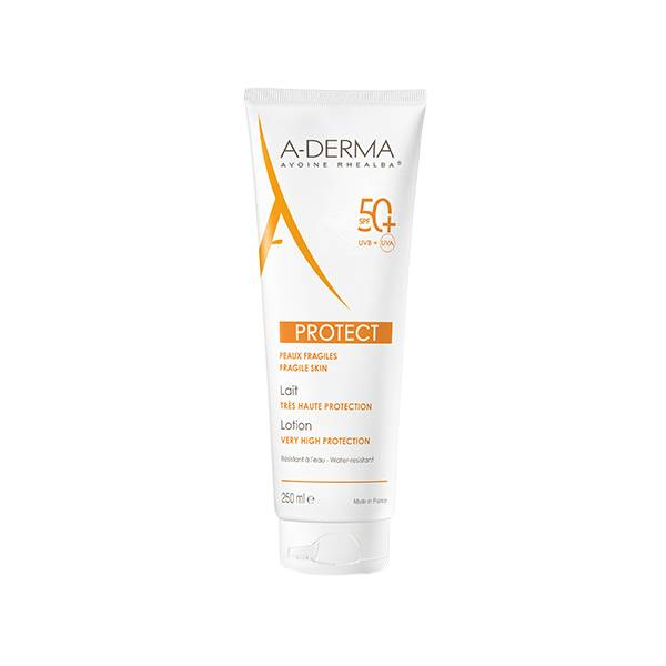Aderma Protect Peaux Fragiles SPF 50+ Lait 250ml