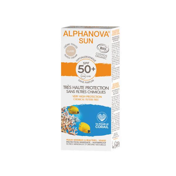 Alphanova Sun Bio Crème Teintée Claire SPF50+ 50ml