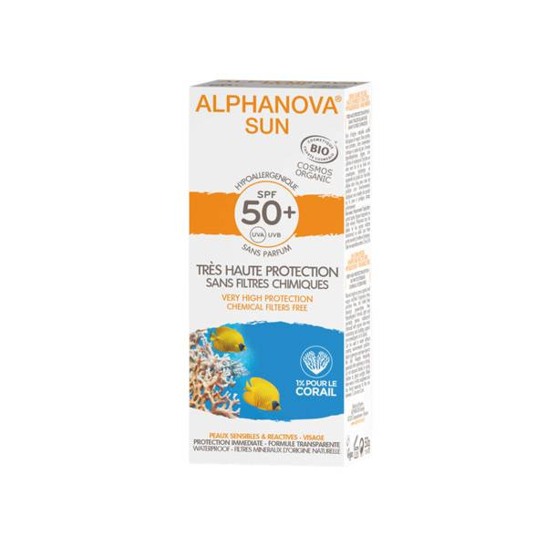 Alphanova Sun Crème Solaire Bio SPF50+ 50ml