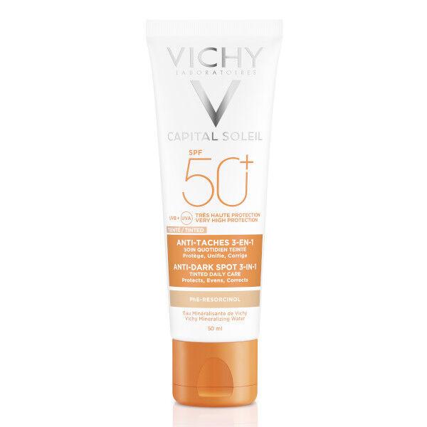Vichy Capital Soleil Crème Solaire Visage Teintée Anti-Taches SPF50+ 50ml