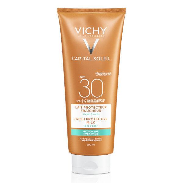 Vichy Capital Soleil Crème Solaire Lait Protecteur Fraicheur SPF30 300ml