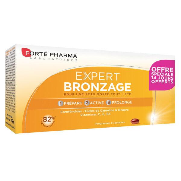 Forté Pharma Expert Bronzage Cure 2 mois 56 comprimés dont 14 Offerts