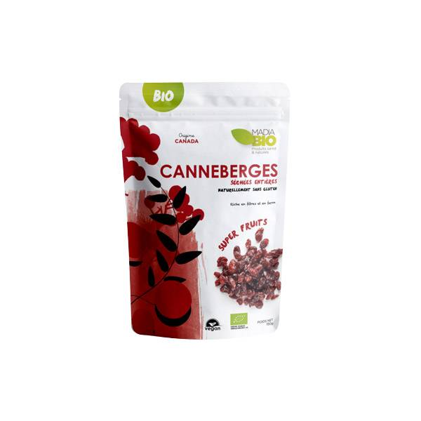 0029802 Madia Bio Super Aliments Canneberges 150g