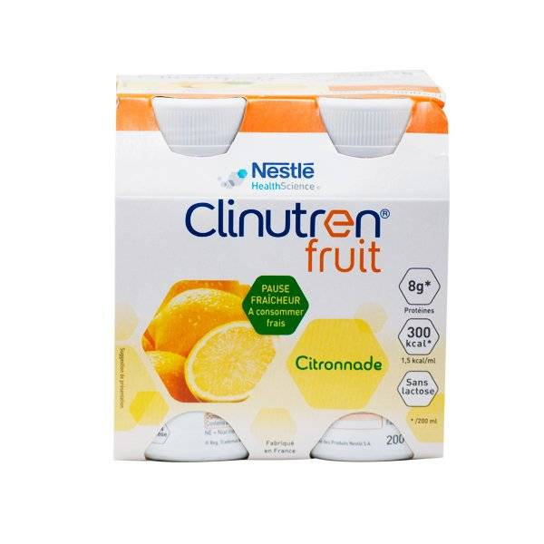 6167864 Clinutren Fruit Citronnade sans Lactose 4 x 200ml
