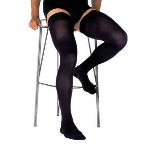 Innothera Contention Innothera Legger Fine Homme Bas Auto-Fixants Classe 2 Long Taille 1 Noir - Publicité
