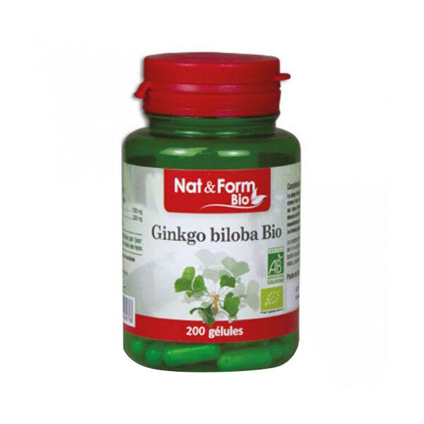 Nat & Form Bio Ginkgo Biloba 200 gélules végétales
