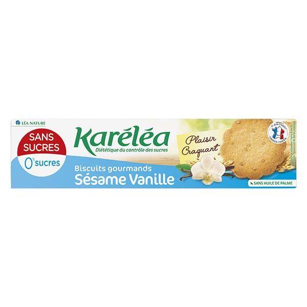 Karéléa Biscuits Sans Sucres Sésame Vanille 132g