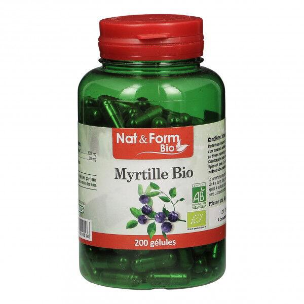 Nat & Form Bio Myrtille Baie 200 gélules végétales