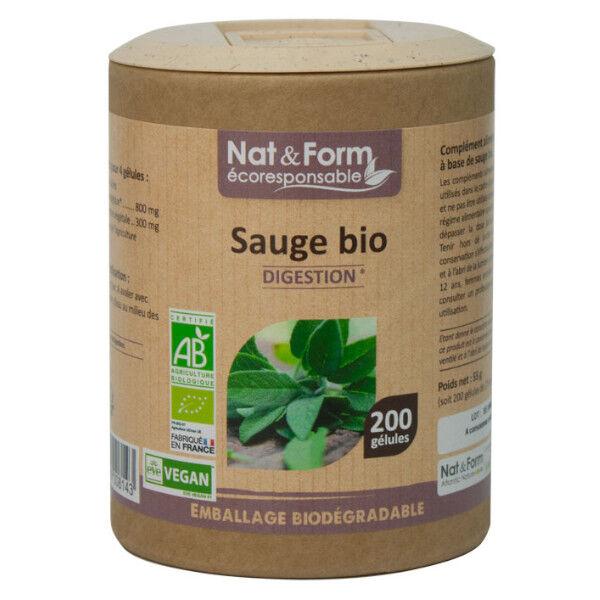 Nat & Form Bio Sauge 200 gélules végétales