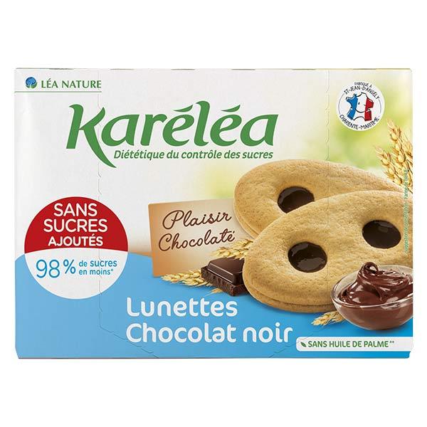 Karéléa Biscuits Sans Sucres Ajoutés Lunettes Chocolat Noir 175g
